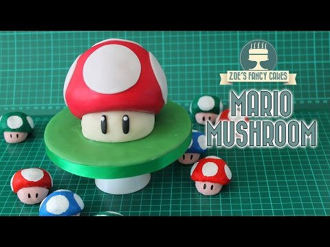 Mario Mushroom Cake : Gaming cakes collaboration with Red Ted Art