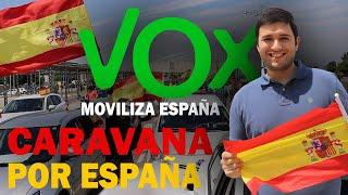 Así viví la MANIFESTACIÓN en COCHE de VOX   CARAVANA POR ESPAÑA