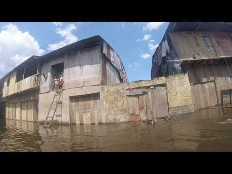 Floating City Belen Iquitos Amazon River Peru Views - ESL British English Pronunciation