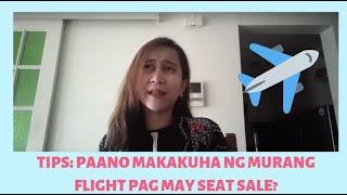 PAANO MAKA-KUHA NG MURANG TICKET PAG MAY SEAT SALE? | CEBU PACIFIC