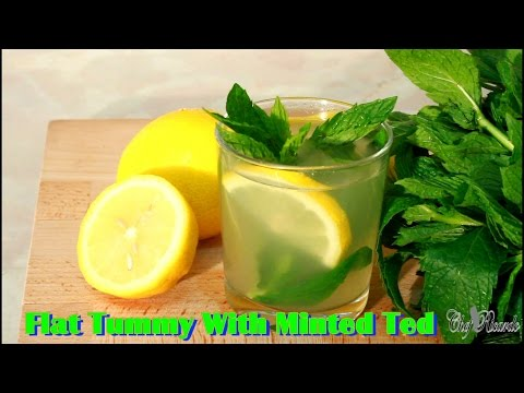 Flat Tummy With Minted Tea ( Ginger Lemon & Honey ) | Recipes By Chef Ricardo