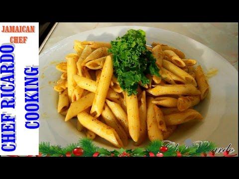 Easy Jamaican Jerk Pasta Recipes (Jamaican Chef) | Recipes By Chef Ricardo