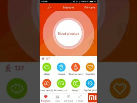 Check Blood Pressure,Vision,hearing,Lung Capacity on Android Phone