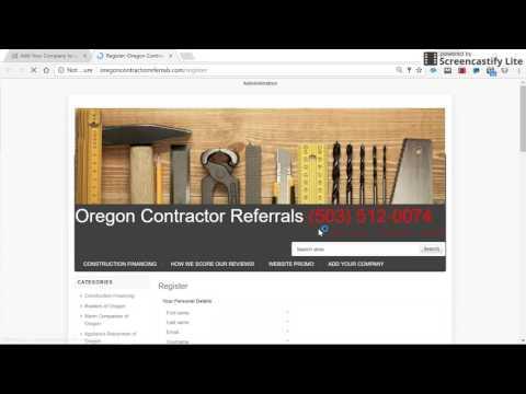 App Oregon Contractor Registration