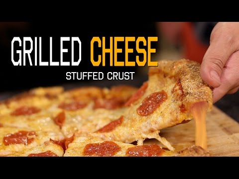 DIY Grilled Cheese Stuffed Crust Pizza