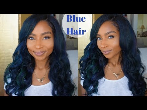 How to: Dye Hair Midnight Blue /Turquoise ft. Ali Julia Hair| iamLindaElaine