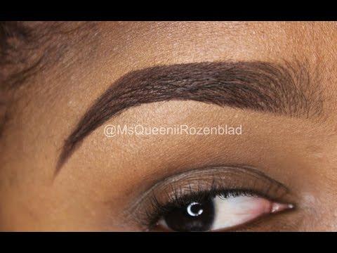 HOW TO FILL IN EYE BROWS / Faded Eye Brow /Instagram Eye Brow tutorial - Queenii Rozenblad