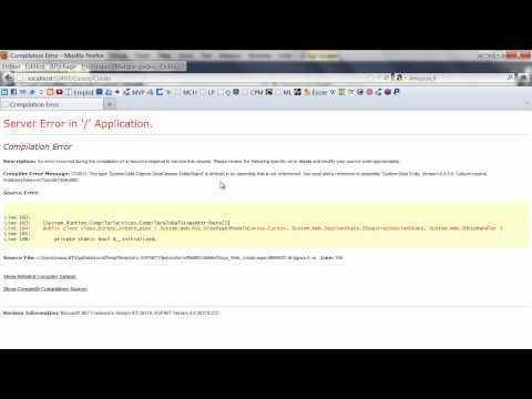 Aplicación web ASP.net MVC