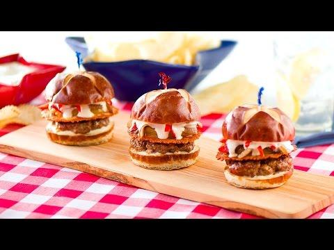 Mini Burgers with Chorizo