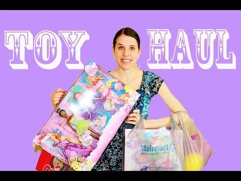 Toy Haul Walmart Disney Princess Barbie Rapunzel Ariel Mermaid MLP Pinkie Pie Learn To Walk Lego