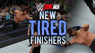 WWE 2K18 - NEW TIRED FINISHERS! (Concepts / Ideas)