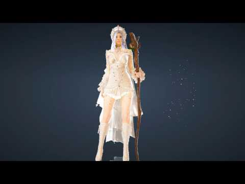 Witch Snowflake Costume Set Black Desert Online Idle