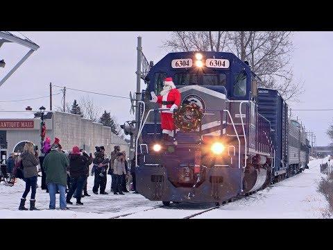 Lake State Railway's Toys for Tots Santa Train