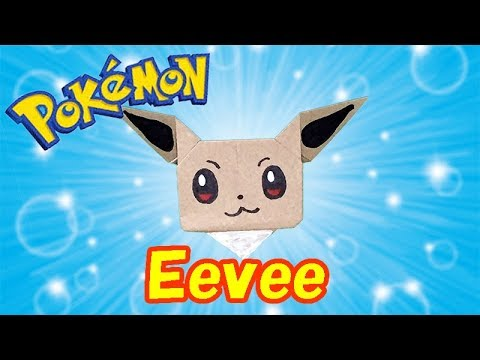 Pokemon Origami Eevee Easy but Cute Tutorial | How to Make a Paper Eevee with Onr Piece of Paper