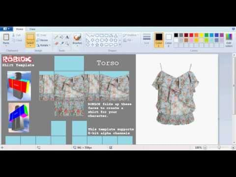 How to make realistic clothes on ROBLOX for starters