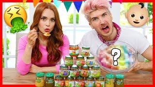 WE MIXED EVERY FLAVOR OF BABY FOOD AND ATE IT! W/ Rosanna Pansino