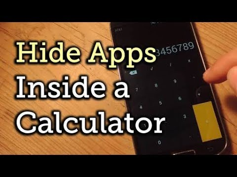 How to hide personal Data and folders inside calculator#