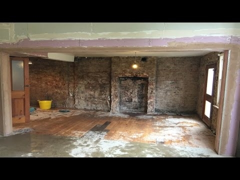 How To Remove internal load bearing wall with picture frame steel beam installation