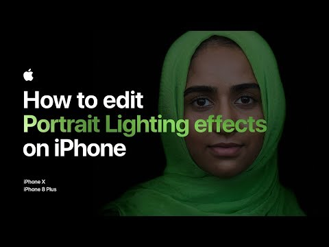 How to edit Portrait Lighting effects on iPhone — Apple