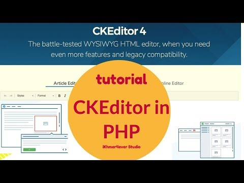 How to add CKEditor with PHP - Article Editor easy to use. Open Source Editor for PHP.
