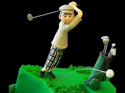 Golfer's 50th Birthday Cake