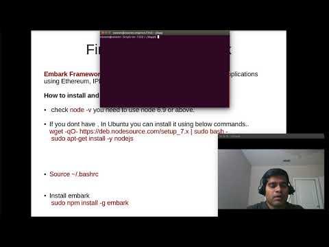 First Dapp with embark framework