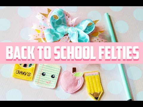 Back to School Hair Felties By Planet Applique