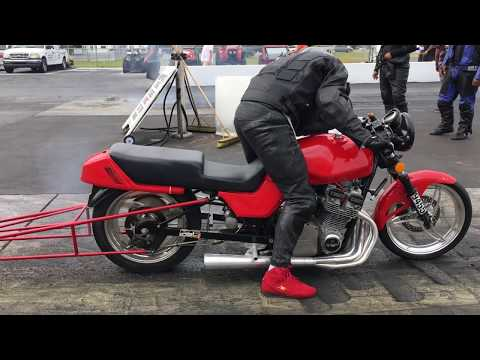 Dragbike Racer Hits the Wall! Motorcycle Crash!