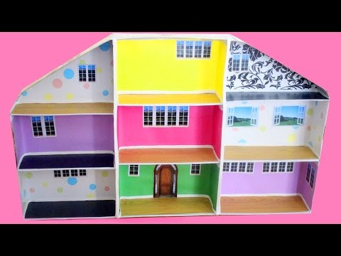 🏠How to make a dollhouse with shoe boxes - simplekidscrafts