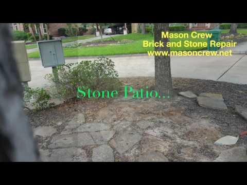 How to build outdoor stone patio?