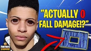 MYTH DISCOVERS *NEW* ACTUAL 0 FALL DAMAGE TECHNIQUE! - Fortnite Moments #132