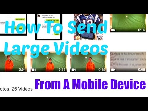 How To Send Large Files (Videos) From A Mobile Device (iPhone/iPad) - Google Drive
