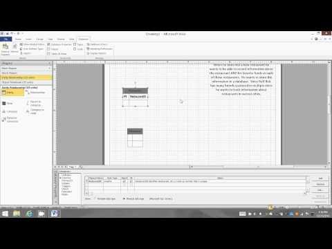 Buff Bob Restaurants Database - Part 1 - ERD - SQL Server - Visio