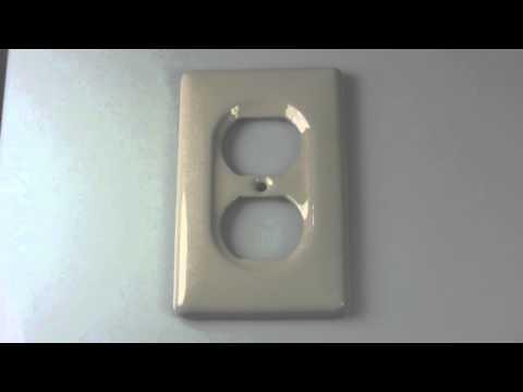 Bone Porcelain Single Duplex Switch Plate Cover