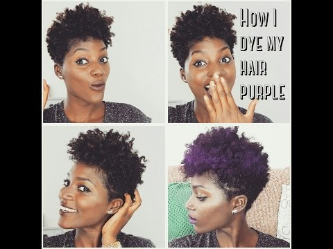 Natural Hair: How to Dye your hair PURPLE without bleaching