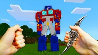 REALISTIC MINECRAFT - STEVE MEETS TRANSFORMERS!🤖