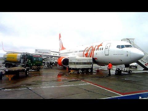 Thunderstoms on GOL Boeing 737-800 São Paulo Congonhas to Brasilia & IATA Aviation Day Brazil