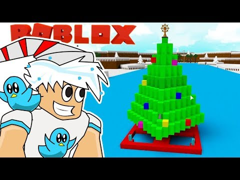 NEW HUGE CHRISTMAS TREE BOAT / BUILD A BOAT TO TREASURE IN ROBLOX