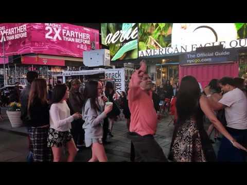 Live garba on Times Square New York City