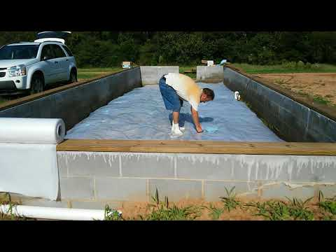 Installing a vapor barrier in the crawl spaces