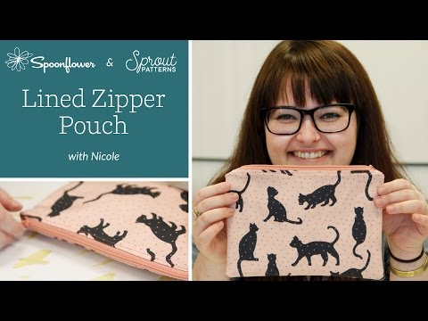 How To: Lined Zipper Pouch | Spoonflower + Sprout Patterns Lined Zipper Pouch