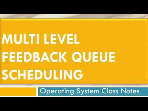 Multi Level Feedback Queue Scheduling | Operating system, Class notes