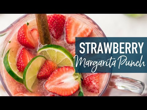 Strawberry Margarita Punch (Sparkling!)