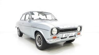 A Club Registered Very Rare AVO Mk1 Ford Escort RS1600 Custom in Original Condition - SOLD!