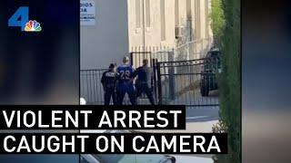 LAPD Officer Under Criminal Investigation For a Violent Arrest — Caught on Cellphone Video  | NBCLA