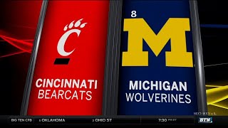 Cincinnati at Michigan - Football Highlights