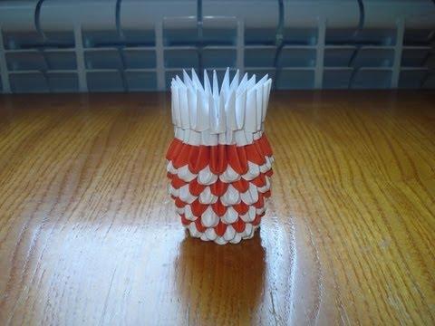 3D Origami Vase Tutorial #3