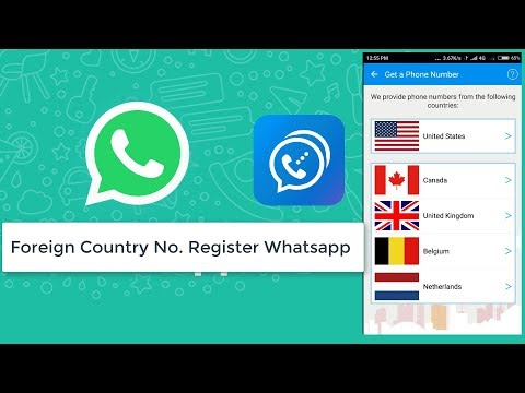 Resolve Not a valid Number  Get Different Country Number & Register with Whatsapp in 2018