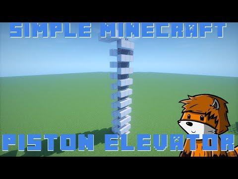 Simple Piston Elevator | Minecraft 1.11/1.12+
