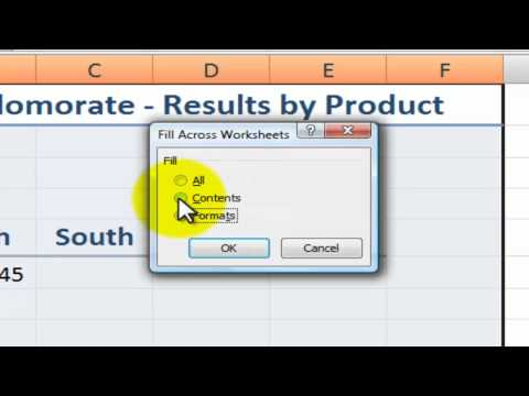 Copying Formats and Content to Multiple Excel Worksheets